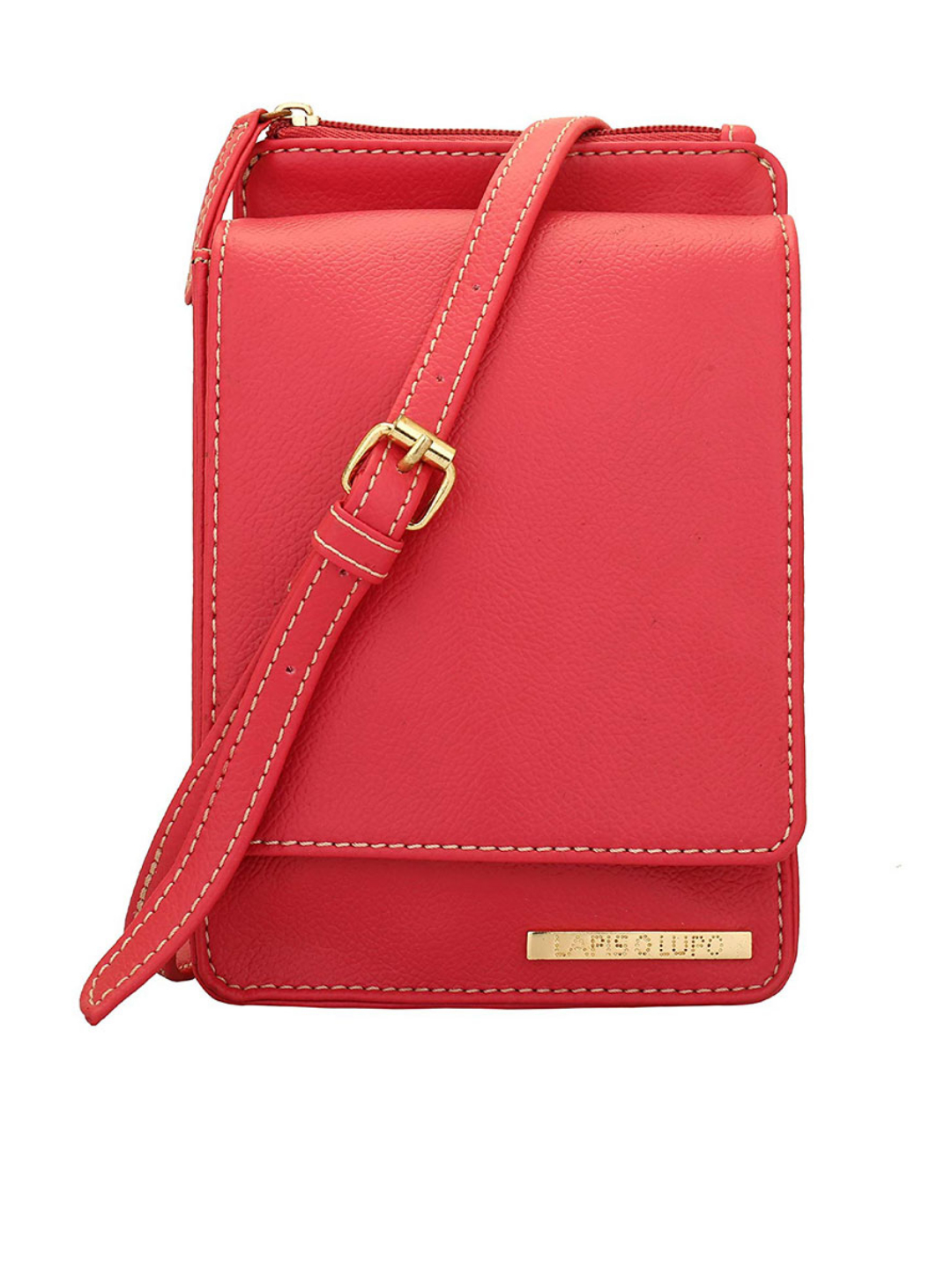 Salmon Women Mobile Synthetic Sling Bag - Pink