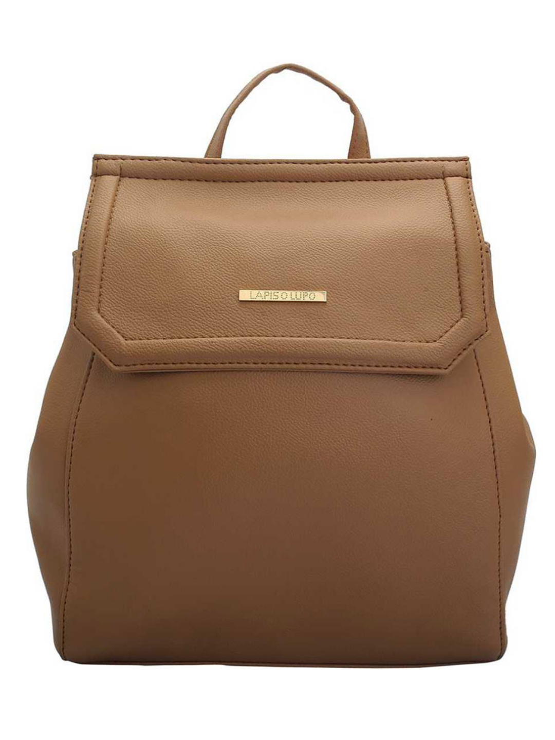 Synthetic Taupe Women Backpack - Beige