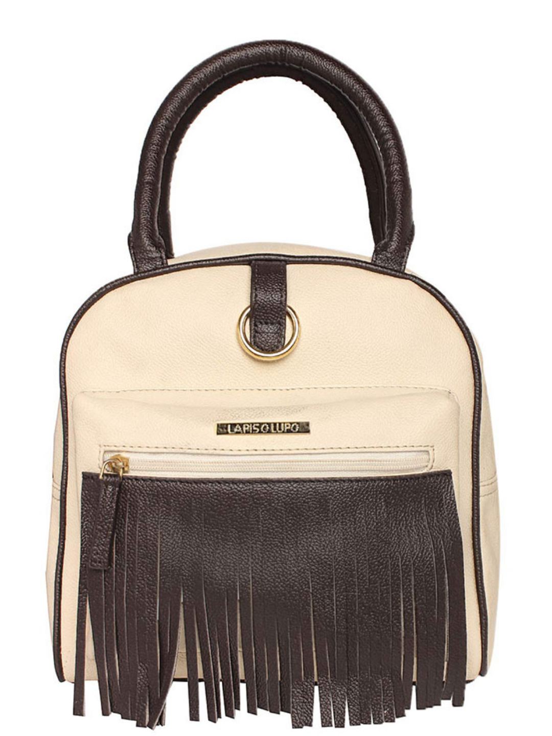 Synthetic Grace Art Women Backpack - Offwhite