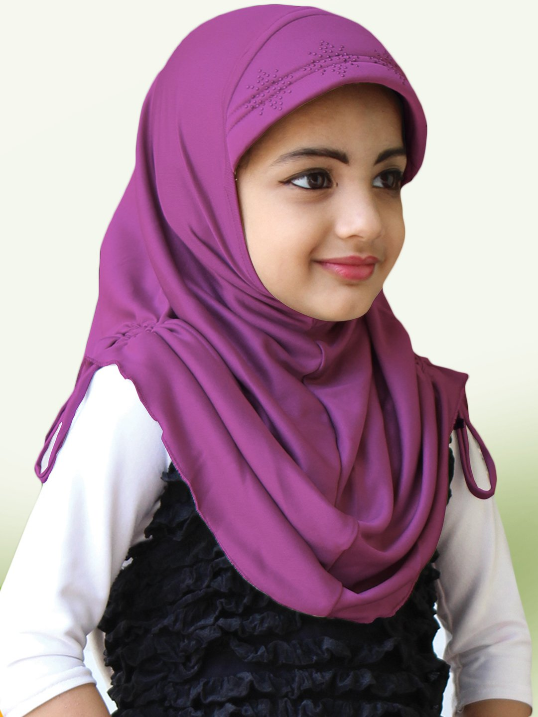 Little Heena Soft Knitted Icra Fabric Hijab In Lavender