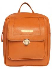 Lapis O Lupo Synthetic Bust Steam Women Backpack - Tan