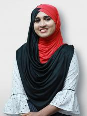 Turban Soft Knitted Icra Double Shaded Instant Hijab In Black And Red