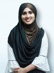 Turban Soft Knitted Icra Double Shaded Instant Hijab In Brown And Black