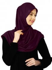 Zooni  Lycra Instant Hijab In Wine