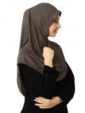 Zooni  Lycra Instant Hijab In Formal Grey