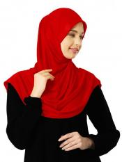 Zooni  Lycra Instant Hijab In Red