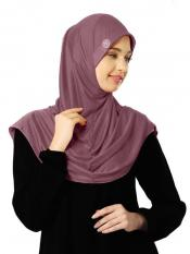 Zooni  Lycra Instant Hijab In Coffee