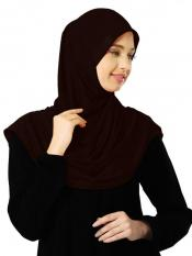 Zooni  Lycra Instant Hijab In Cocco