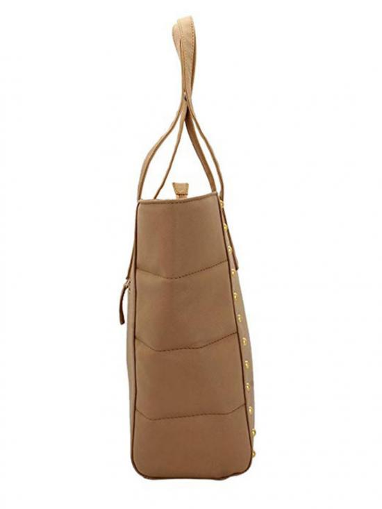 Synthetic Taupe Women�s Tote - Beige