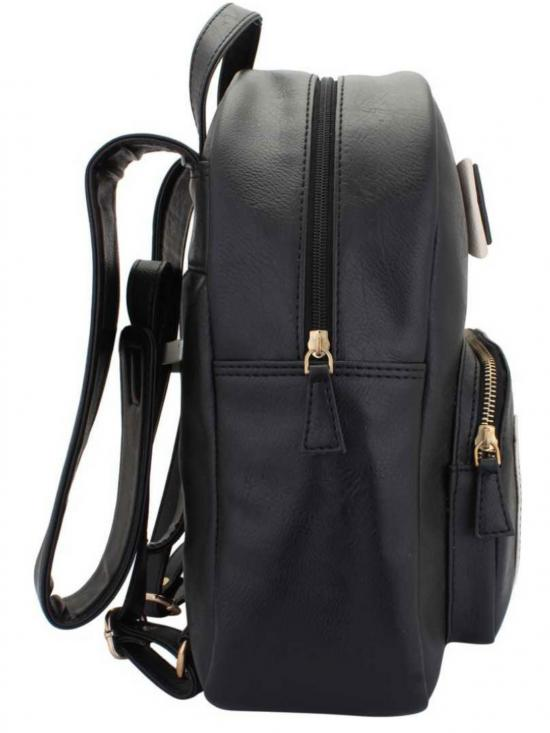 Synthetic Zing Womens Backpack  - Black