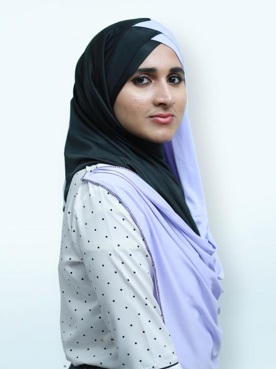 Turban Soft Knitted Lycra Double Shaded Instant Hijab In Black And Lavender