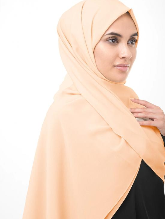 Poly Georgette Scarf In Sandal